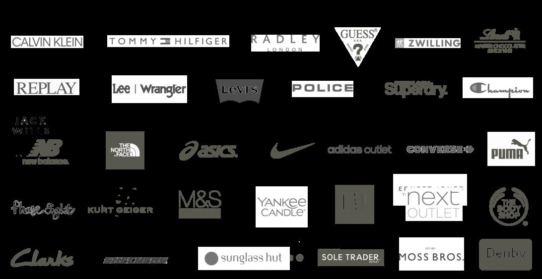 London Designer Outlet, Wembley Park Related Brands